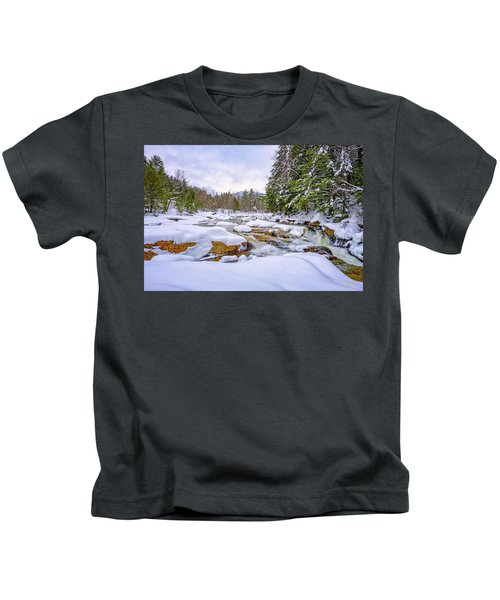 Winter On The Swift River. Kids T-Shirt