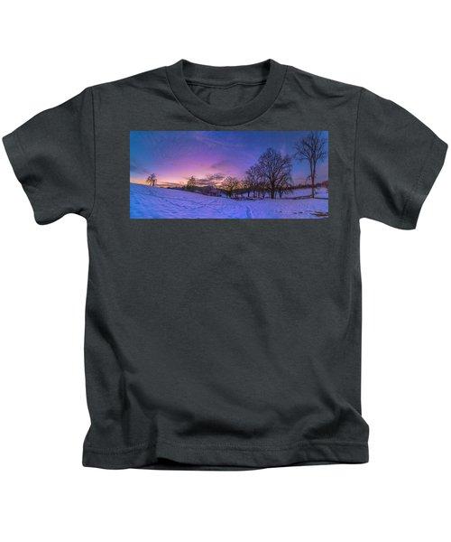 Winter Panorama Kids T-Shirt