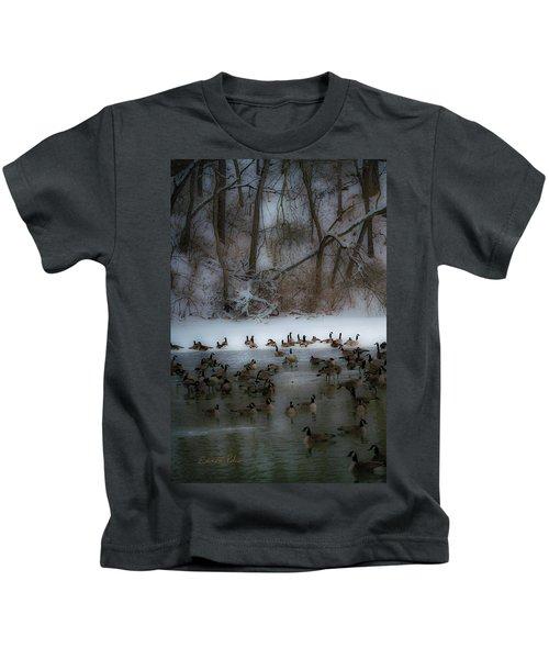 Winter Swim Kids T-Shirt