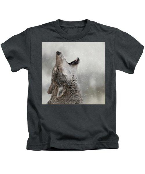 Catching Snowflakes  Kids T-Shirt