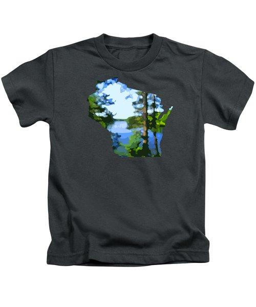 Wisconsin Fallison Lake Kids T-Shirt