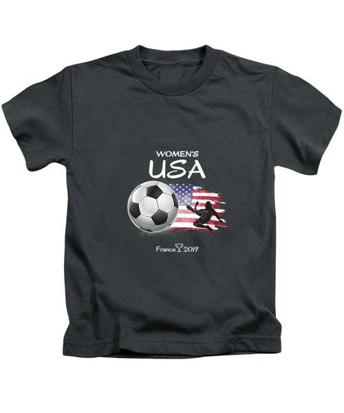 Womens Women Usa Soccer France 2019 Shirt World Tournament V-neck T-shirt Kids T-Shirt