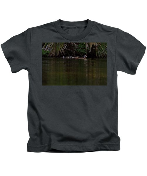 Wood Duck And Ducklings Kids T-Shirt