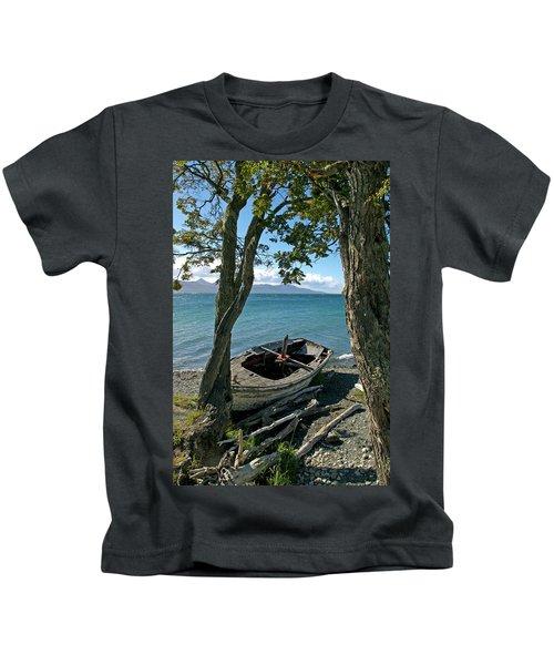 Wrecked Boat Patagonia Kids T-Shirt