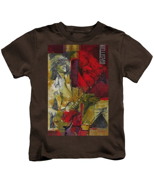 Led Zeppelin  Kids T-Shirt by Corporate Art Task Force