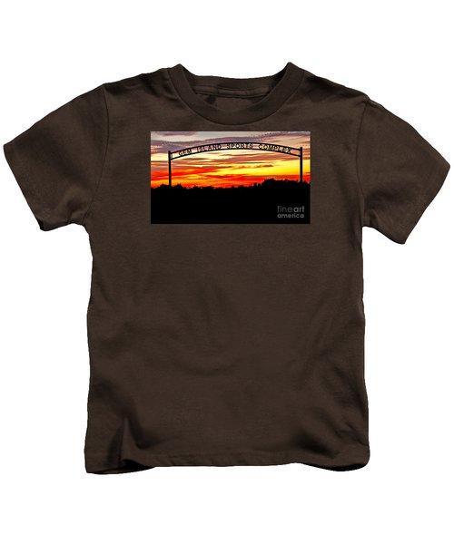 Beautiful Sunset And Emmett Sport Comples Kids T-Shirt by Robert Bales