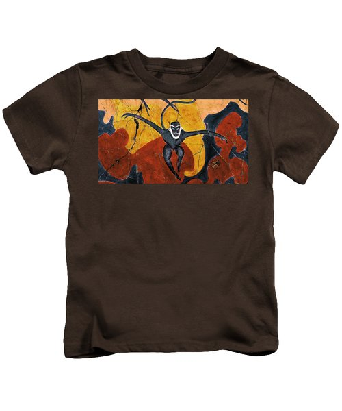 Blue Monkeys No. 8 - Study No. 3 Kids T-Shirt