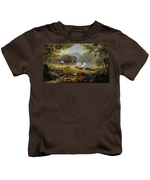 Charles Waterton Capturing A Cayman, 1825-26 Kids T-Shirt