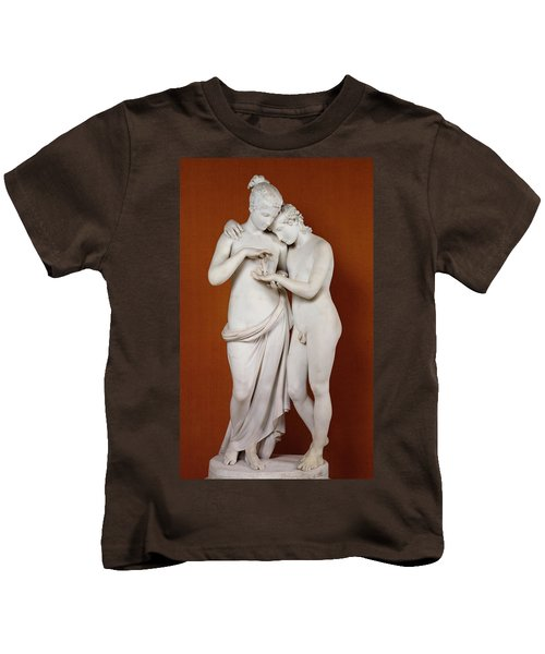 Cupid And Psyche Kids T-Shirt by Antonio Canova