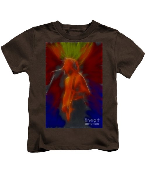 Def Leppard-adrenalize-gb13-phil-fractal Kids T-Shirt by Gary Gingrich Galleries