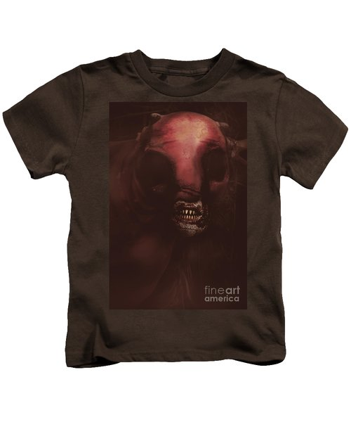 Evil Greek Mythology Minotaur Kids T-Shirt by Jorgo Photography - Wall Art Gallery
