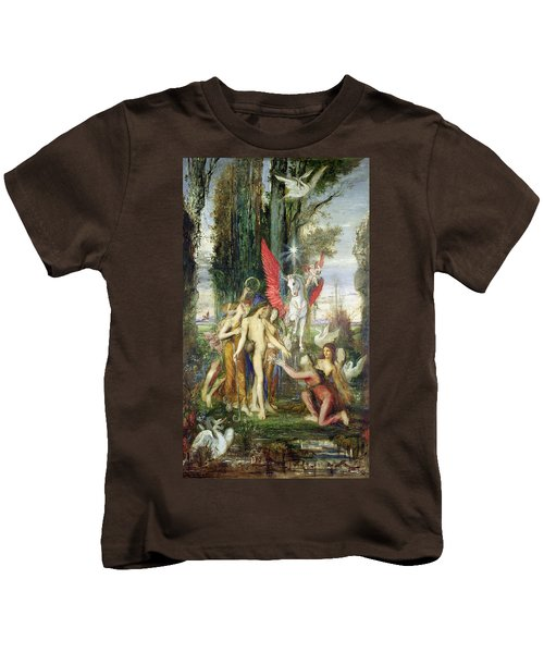 Hesiod And The Muses Kids T-Shirt by Gustave Moreau