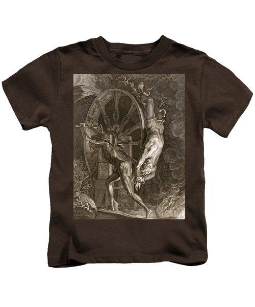 Ixion In Tartarus On The Wheel, 1731 Kids T-Shirt