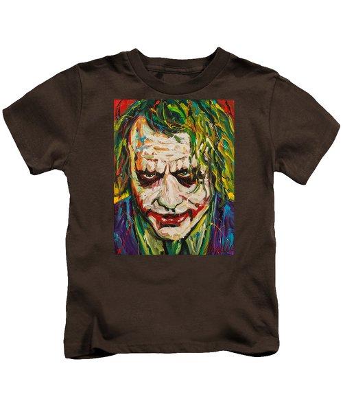 Joker Kids T-Shirt by Michael Wardle