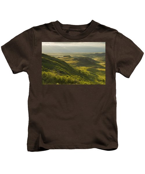 Killdeer Badlands In The East Block Of Kids T-Shirt by Dave Reede