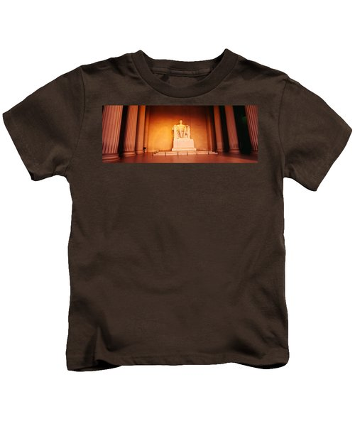 Low Angle View Of A Statue Of Abraham Kids T-Shirt by Panoramic Images
