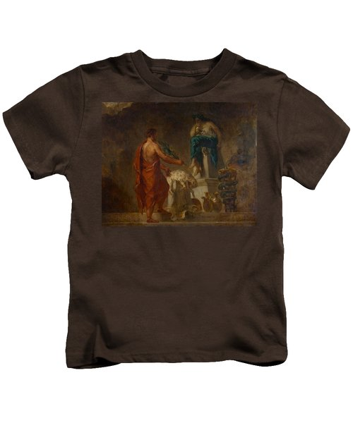 Lycurgus Consulting The Pythia Kids T-Shirt by Eugene Delacroix