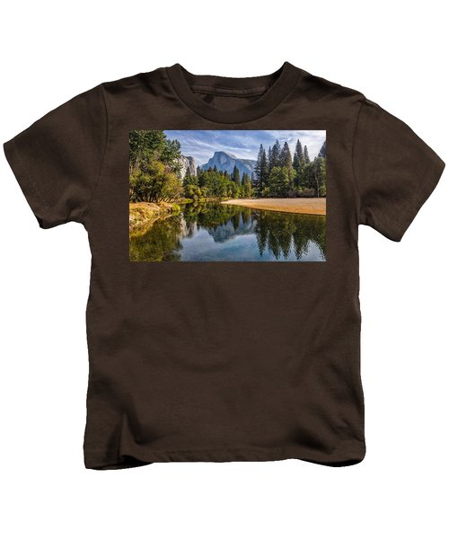 Merced River View II Kids T-Shirt by Peter Tellone