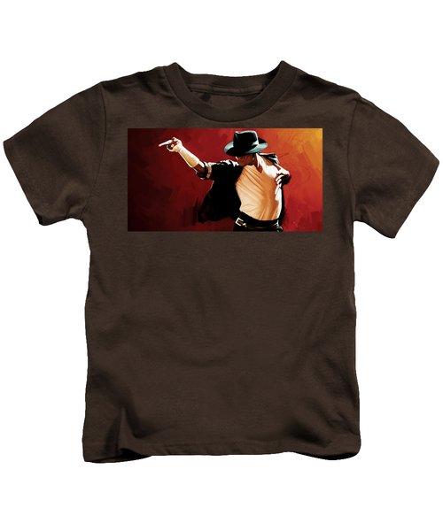 Michael Jackson Artwork 4 Kids T-Shirt by Sheraz A