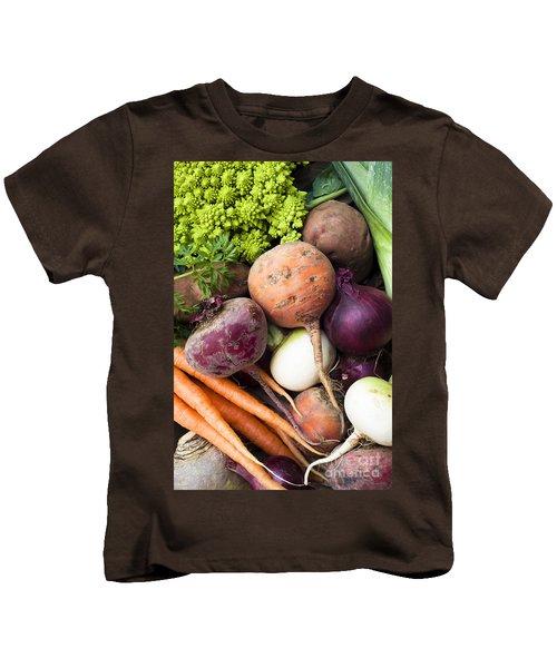 Mixed Veg Kids T-Shirt by Anne Gilbert