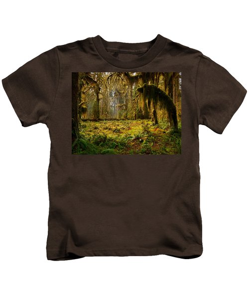 Mystical Forest Kids T-Shirt by Leland D Howard