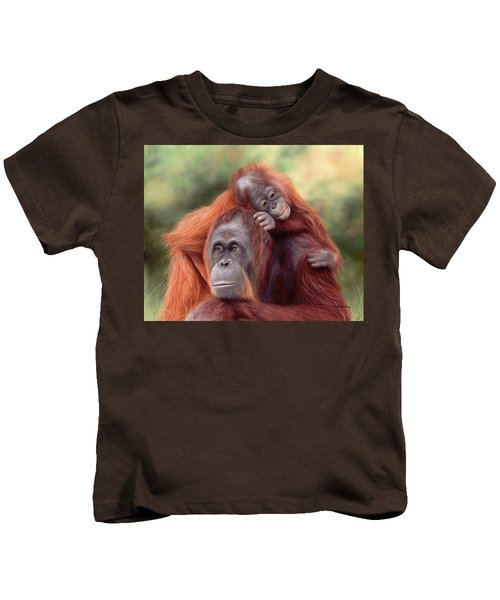 Orangutans Painting Kids T-Shirt