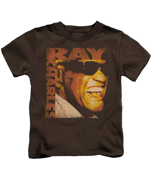 Ray Charles - Singing Distressed Kids T-Shirt