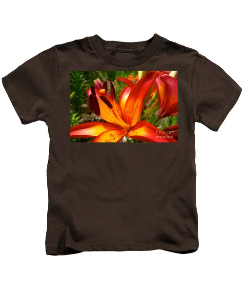Royal Sunset Lily Kids T-Shirt by Jacqueline Athmann