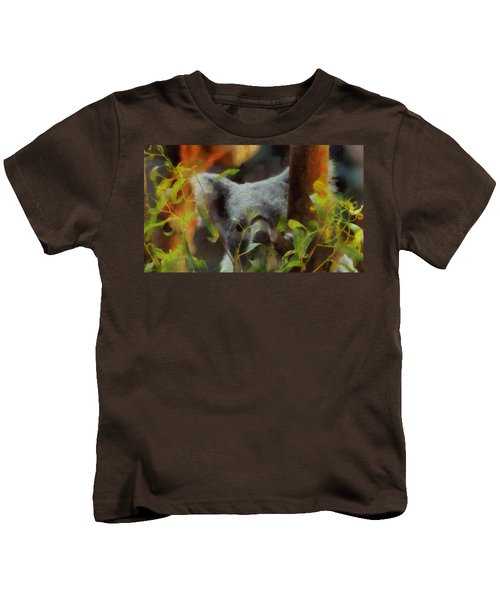 Shy Koala Kids T-Shirt by Dan Sproul