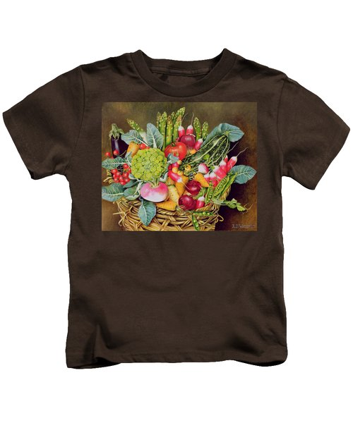 Summer Vegetables Kids T-Shirt by EB Watts