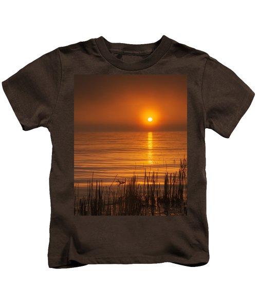 Sunrise Through The Fog Kids T-Shirt by Scott Norris
