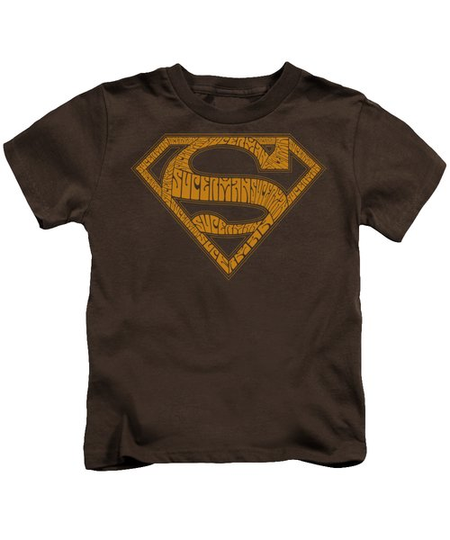 Superman - 60s Type Shield Kids T-Shirt by Brand A