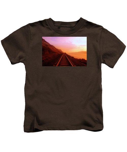 The Long Walk To No Where  Kids T-Shirt