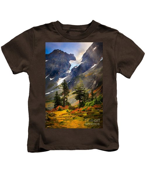 Top Of Cascade Pass Kids T-Shirt by Inge Johnsson