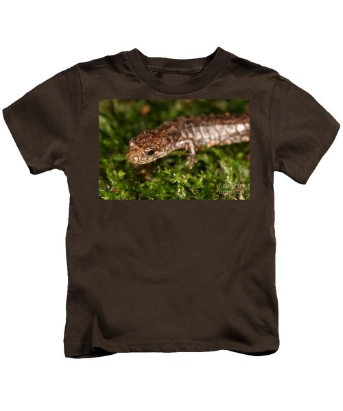Red-backed Salamander Kids T-Shirt by Ted Kinsman