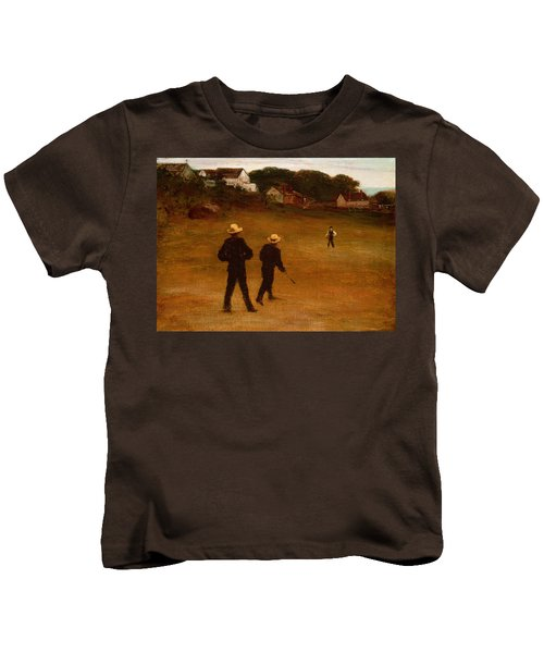 The Ball Players Kids T-Shirt by William Morris Hunt