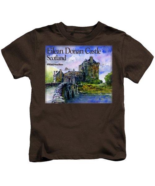Eilean Donan Castle Scotland Kids T-Shirt