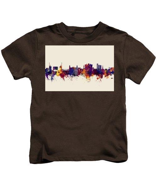 Fayetteville Arkansas Skyline Kids T-Shirt