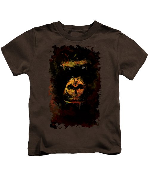 Mighty Gorilla Kids T-Shirt by Jaroslaw Blaminsky