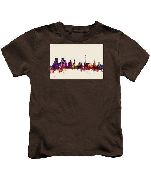 Moscow Russia Skyline Kids T-Shirt