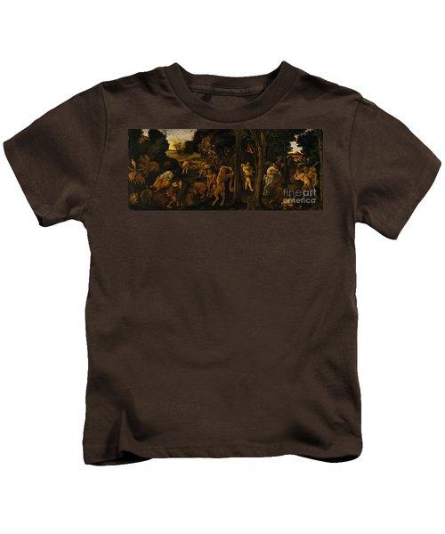 A Hunting Scene Kids T-Shirt
