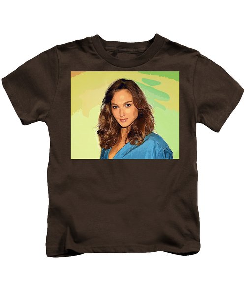Gal Gadot Art Kids T-Shirt by Best Actors