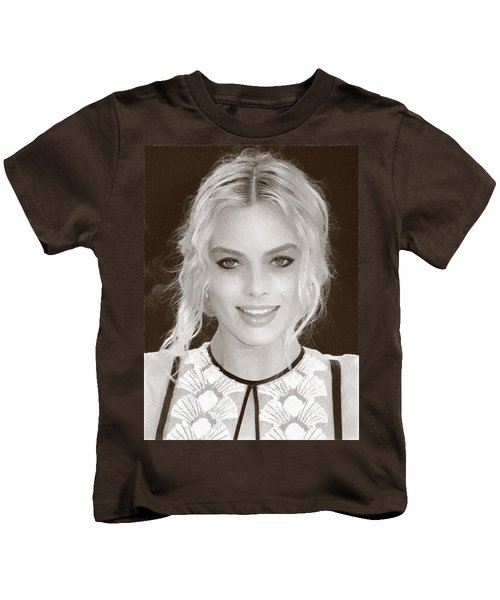 Actress Margot Robbie Kids T-Shirt by Best Actors