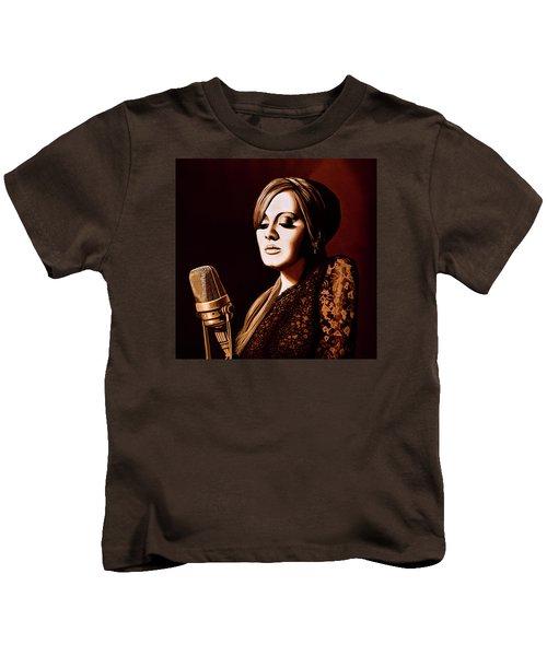 Adele Skyfall Gold Kids T-Shirt by Paul Meijering