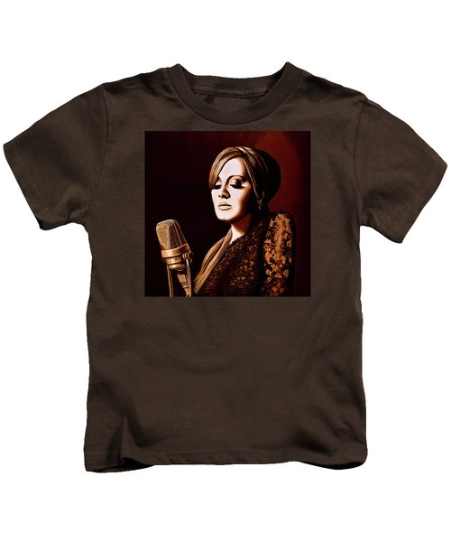 Adele Skyfall Gold Kids T-Shirt