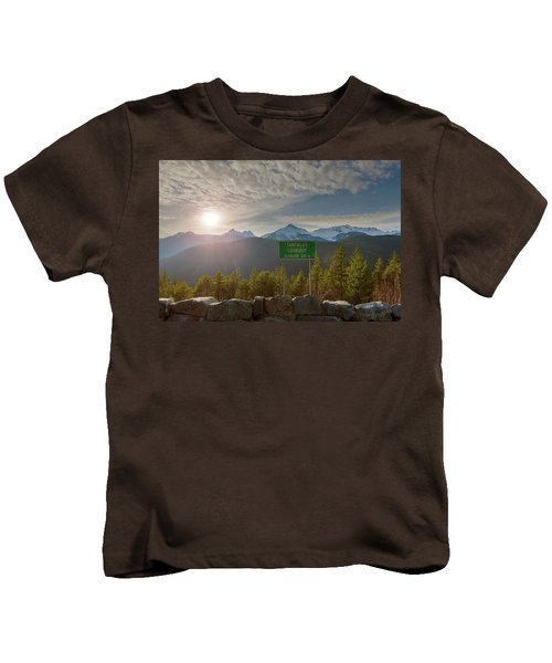 Afternoon Sun Over Tantalus Range From Lookout Kids T-Shirt