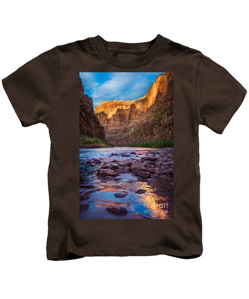 Ancient Shore Kids T-Shirt by Inge Johnsson