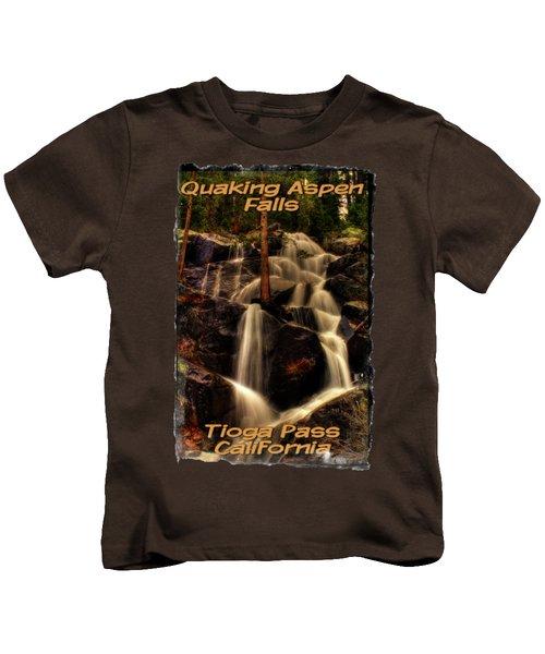 Quaking Aspen Falls Along Tioga Pass  Kids T-Shirt by Roger Passman
