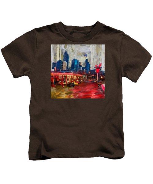 Atlanta Skyline 231 1 Kids T-Shirt by Mawra Tahreem