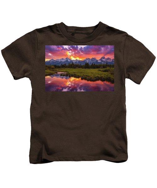 Black Ponds Sunset Kids T-Shirt